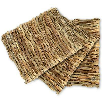 3 Pcs Natural Seagrass Mat Hand Woven,Safe Edible For Hamsters,Rabbits,Parrot - $27.95