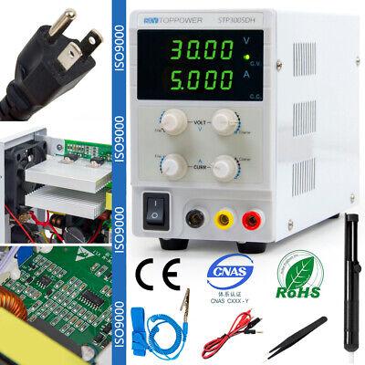 Variable Dc Power Supply 30v5a Bench Lab 4 Bit Readout 110220v Us Plug