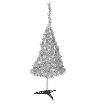 Silber Garland (106cm Silber glänzend Lametta Garland faltbar X'mas Weihnachtsbaum Tannenbaum)