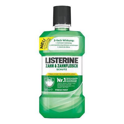 3 x Listerine Antibakterielle Mundspülung Zahn und Zahnfleisch-Schutz Fresh Mint