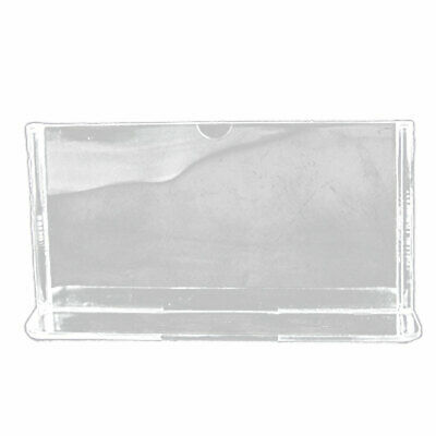 Photo Price Menu Tag Clear Plastic Table Display Holder