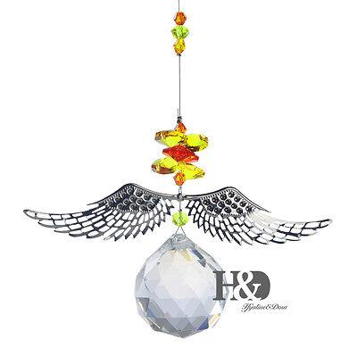 Handmade Angel Wing Crystal Beads Prism Ornament Suncatcher Wedding Gift Pendant ()