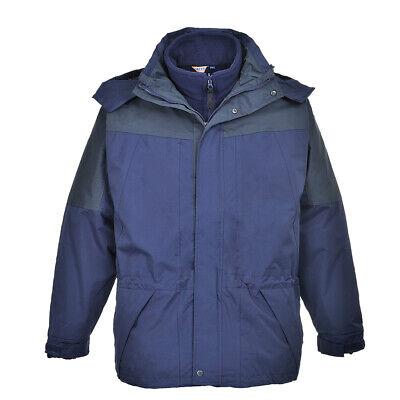 3 in 1 Rain Waterproof Jacket Men's Coat, Detachable Fleece,