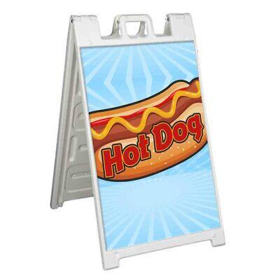 Hot Dog Signicade 24x36 Aframe Plastic Sidewalk Sign Carnival Food