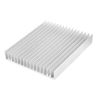 Silver Tone Aluminium Heat Diffuse Heat Sink Cooling Fin 120x100x18mm Ad