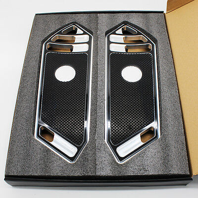 CNC Chrome Deep Cut Rider Front Foot Board Floorboard For Harley Touring Softail