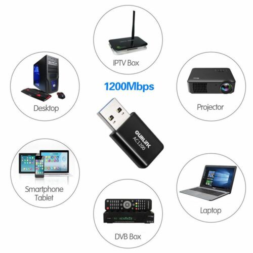 1200Mbps Mini USB Wireless WiFi Adapter 802.11ac LAN Internet Network Adapter US Computers/Tablets & Networking