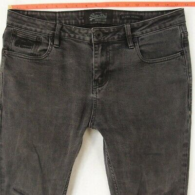 Mens SuperDry ULTRA SKINNY Stretch Grey Jeans W35 W36 L32
