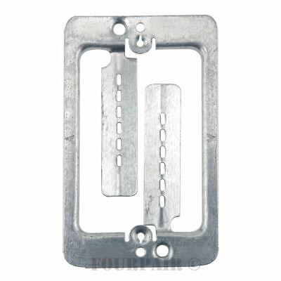 10 Pack 1-Gang Steel Drywall Bracket Face Wall Plate Mount Mud Ring Low - Gang Mounting Wall Bracket