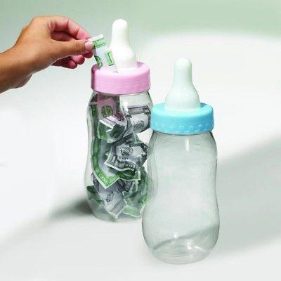 Baby Shower Jumbo Bottle Plastic Coin Piggy Bank Prop](Giant Baby Bottle Bank)