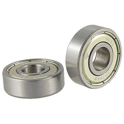 2 Pcs Single Shielded 608z Miniature Deep Groove Ball Bearings Lw Szus