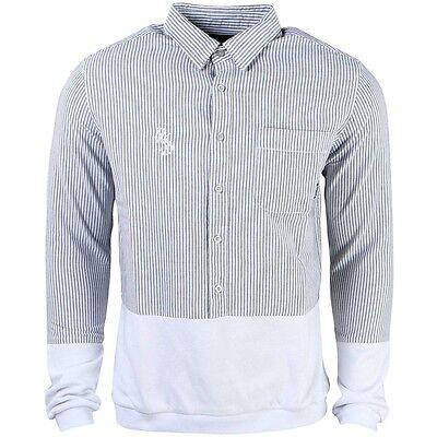 Diamond Supply Co Men Serif Oxford Mix Woven Shirt blue whit