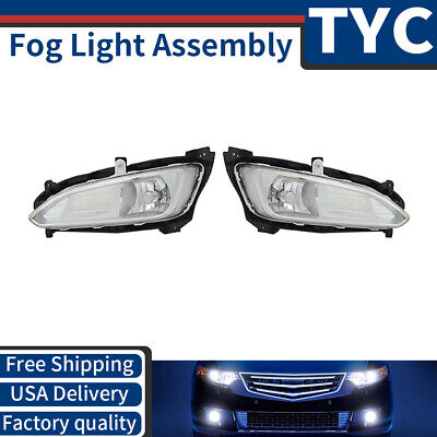 TYC 2X Left + Right Fog Light lamp Assembly For 2013-2016 Hyundai Santa Fe