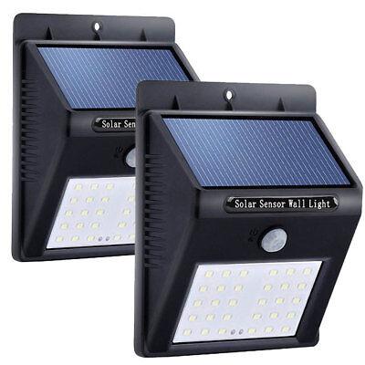 30 LED Solar Light Wireless Waterproof Motion Sensor Outdoor Light - 2 Pack