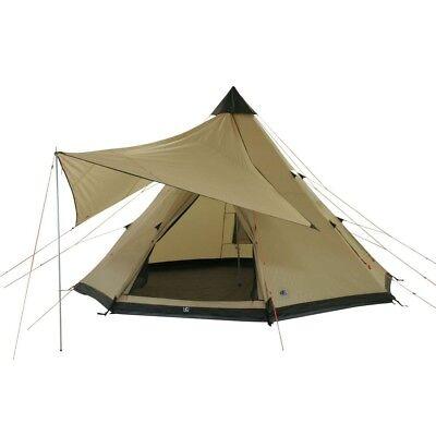 10T Camping-Zelt Shoshone 500 10 Personen Tipi Pyramidenzelt Familienzelt 5000mm ()