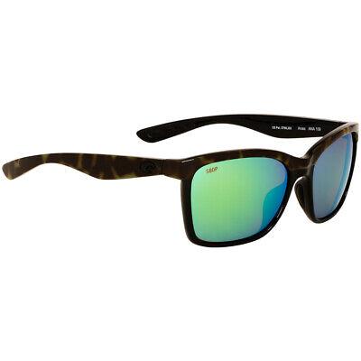 Costa Anaa Green Mirror Lens Unisex Sunglasses ANA109OGMP**Open Box**