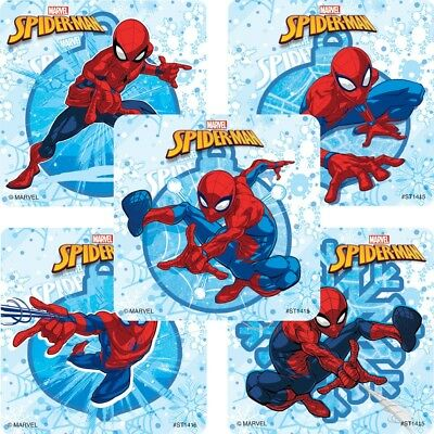 Spider-Man Stickers x 5 - Spiderman Birthday Party Favours Loot Bags Ideas Fun](Fun Birthday Party Ideas)