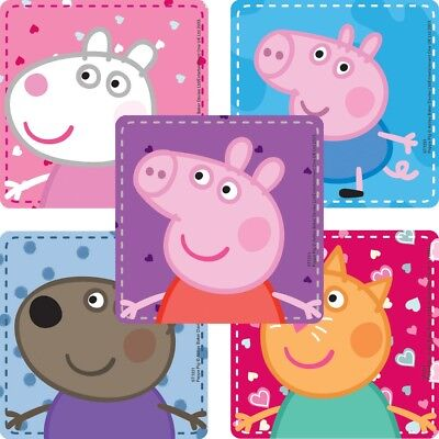 20 Peppa Pig STICKERS Party Favors Supplies Birthday Treat Loot Bags Teacher (Peppa Birthday)