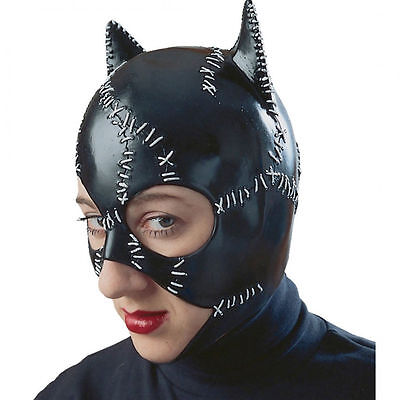 CATWOMAN Replica Costume Vintage Adult Latex Mask Cat Woman Rubies Halloween ](Rubies Catwoman Costume)