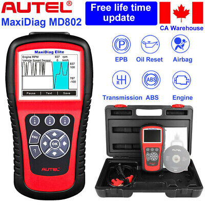 Autel MD802 OBD2 Diagnostic Code Readers & Scanners Engine Airbag SRS ABS EPB CA