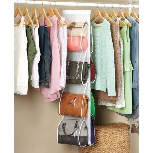 Hanging closet organizer wardrobe clothes hanger door - Handbag hanger for closet ...