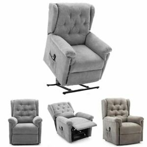 BARNSLEY FABRIC ELECTRIC RISE RISER RECLINER MOBILITY SOFA ARMCHAIR