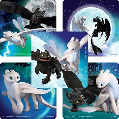 25 How to Train Your Dragon 3 Hidden World Glow in Dark STICKERS Party Favors - Glow Favors