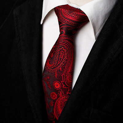 (EAGB0137 Red Black Patterned Microfiber Gift For Series Extra Long Tie By Epoint)