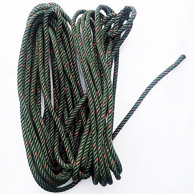 New String 1 4 Nylon Rope Green Color Braided Solid Cord Hank 1/4 inch x 50