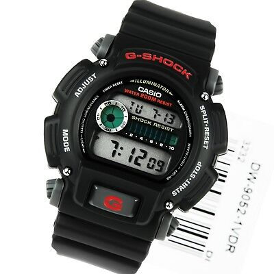 G-shock Stopwatch - Casio G-Shock DW-9052-1V Digital Mens Watch Resist Illuminator Stopwatch DW-9052