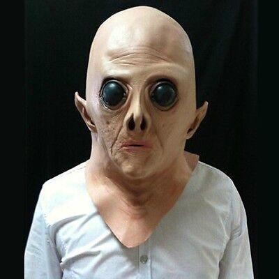 Neue Silikon Gesichtsmaske Alien Ufo Party Horror Latex Vollmasken Für Party