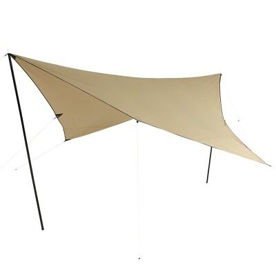 10T T/C Tarp 3x3 UV-50+ - sun awning, 300x300 cm with erection poles and pegs, 2