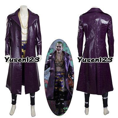 Joker Halloween Comic (Jared Leto Joker Cosplay Costume Halloween Comic Con Party Outfit)
