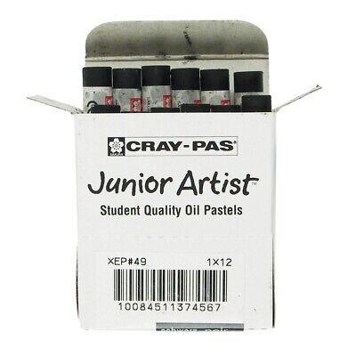 Cray-Pas Junior Black Artist Oil Pastels  - Black - Cray Pas Oil Pastels