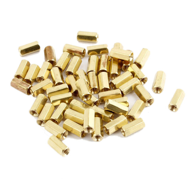 Sunny 50Pcs M3 Male Thread Hex Standoff Hexagonal Spacer
