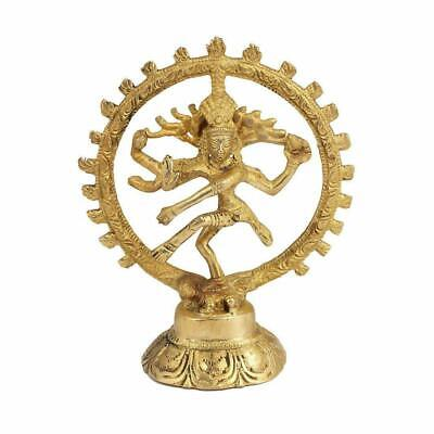 Natraj Brass Statue - King of Dancers Hindu God Shiva Dancing for Home & Office