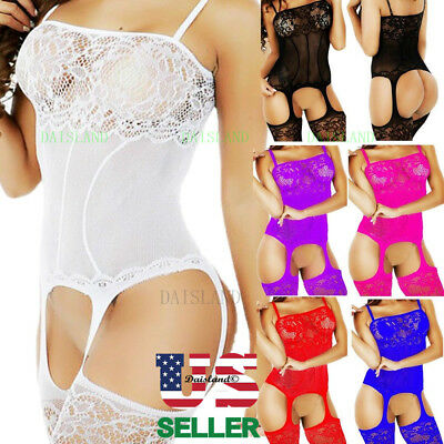 Fishnet Body Stockings Sleepwear Adult New Women's Lingerie Bodysuit Babydoll