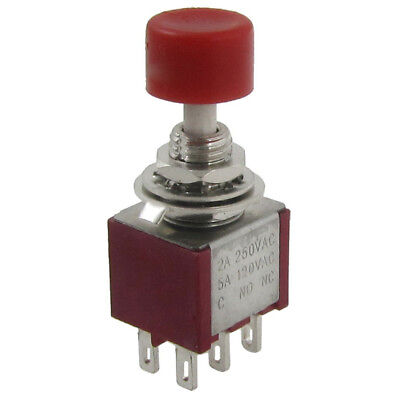 2 Pcs Ac 250v 2a 120v 5a Dpdt 2no 2nc Momentary Push Button Switch U1l8