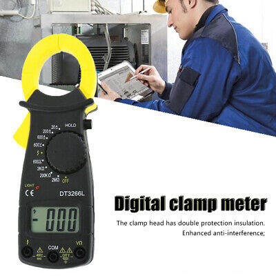 Lcd Digital Multimeter Clamp Acdc Current Ohm Voltage Resistance Meter Tester