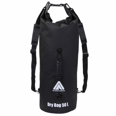 Dry Bag 50L wasserdichter Packsack Rucksack Seesack + Schultergurte &