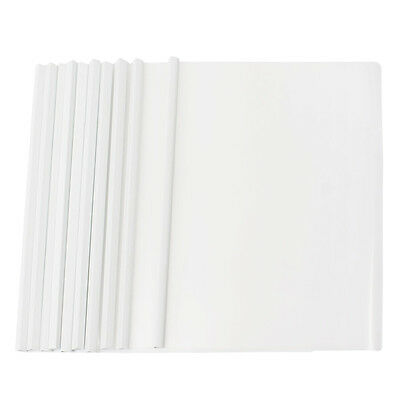 10 Pcs white Plastic Sliding Bar File Folder for A4 Paper Report S9G8