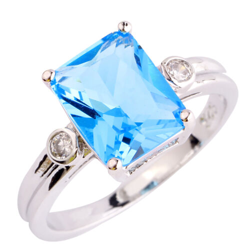 sales-promotion-Emerald-Cut-Blue-White-Topaz-Gems-Silver-Ring-Size-6-7-8-9-10