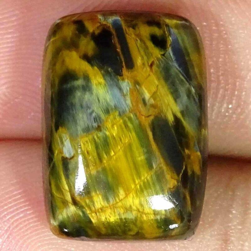 16.10Cts Natural Chatoyant Golden Pietersite Cushion Cabochon Loose Gemstone