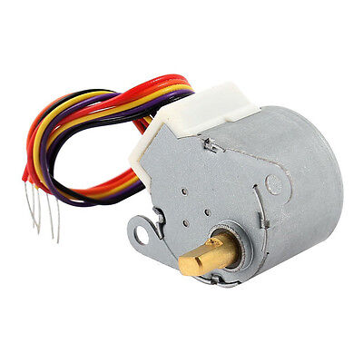 Dc 12v Cnc Reducing Stepping Stepper Motor 0.6a 10oz.in 24byj48 Silver W7p7