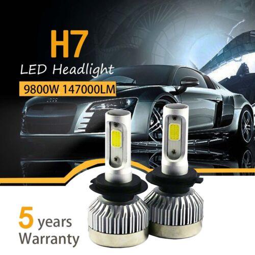 Led - Pair H7 980W 147000LM Car LED Headlight Bulbs Cree COB kit 6000K White