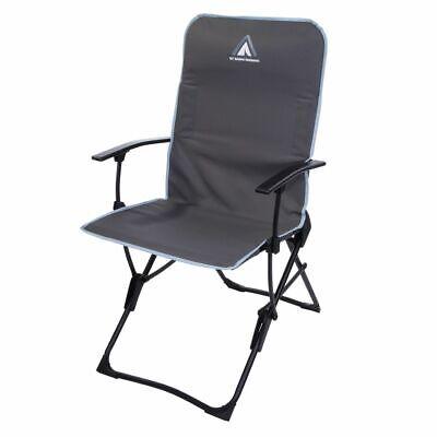 Silla de camping John Arona Silla plegable Respaldo alto plano plegable