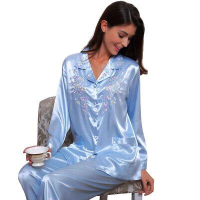 Womens Silk Satin Pajamas Set  Pajamas for women plus size Sleepwear__Great Gift - Pyjamas For Adults