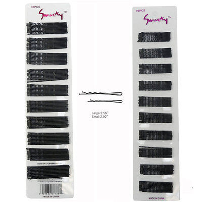 90 PCS Bobby Pins Black with Ball Tips Fashion Hair Styling New Bob - Balls With Hair