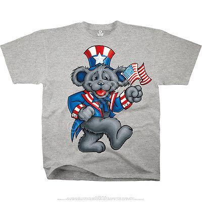 GRATEFUL DEAD-Uncle Sam BEAR-WAVE THE FLAG-USA-HTHR TSHIRT XL,6X VERY LTD - The Grateful Dead Bears
