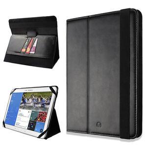 nero-in-pelle-sintetica-Smart-Stand-Portafoglio-Flip-Tablet-Cover-Per-Tanti